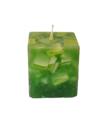 Espelma cuboide baixa 250g